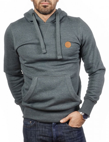 Sweat-shirt capuche classic gris
